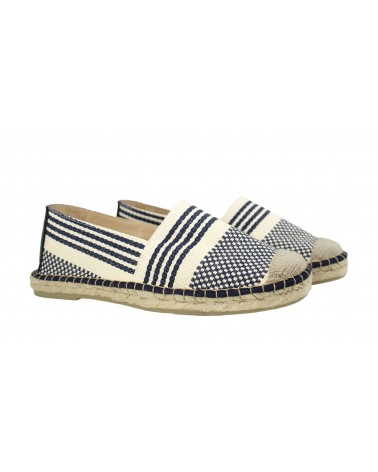 Sandals Crab Leather Navy Blue
